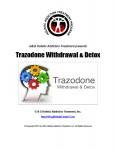 Trazodone Withdrawal Trazodone Detox
