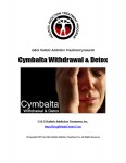 Cymbalta Withdrawal and Detox