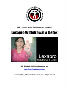 Lexapro Withdrawal and Lexapro Detox