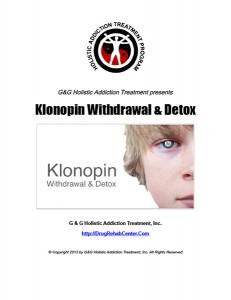 Klonopin Withdrawal and Klonopin Detox
