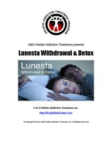 Lunesta Withdrawal and Lunesta Detox