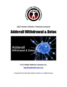 Adderall Withdrawal and Detox